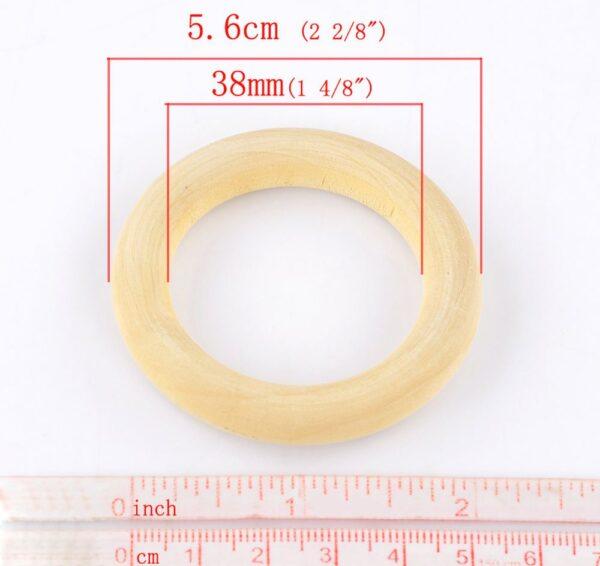 טבעת עץ למקרמה טבעי