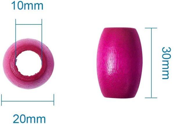 חרוזים למקרמה - חבית - 4 יחידות
