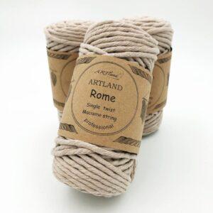 חוט מקרמה סינגל טוויסט - 5 ממ - רומא בז