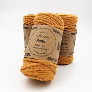 חוט מקרמה סינגל טוויסט - 5 ממ - רומא דבש