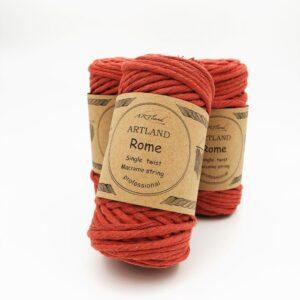 חוט מקרמה סינגל טוויסט - 5 ממ - רומא חמרה