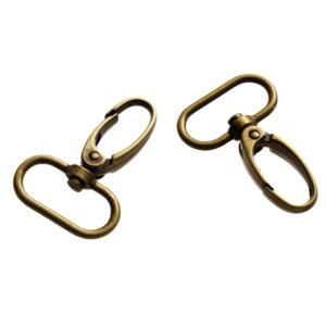 זוג אבזמים לתיקים/מחזיקי מפתחות צבע בראס