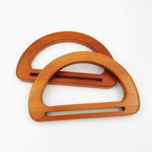 זוג ידיות עץ לתיקים עם חריץ