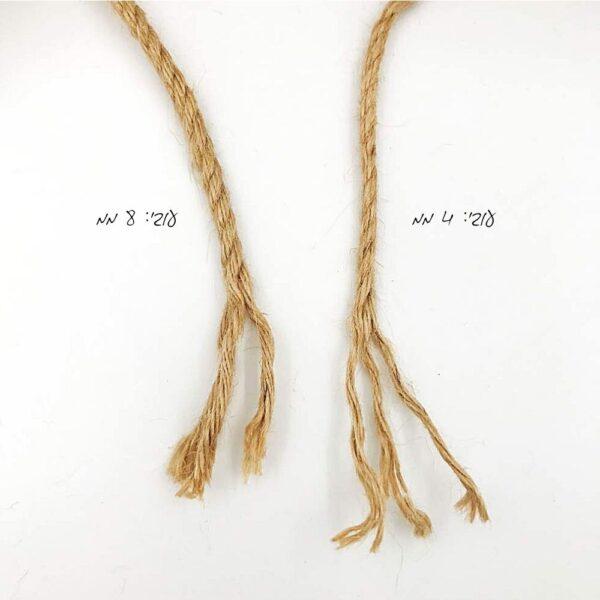 חוט יוטה טבעי בעובי 4 ממ 8 ממ