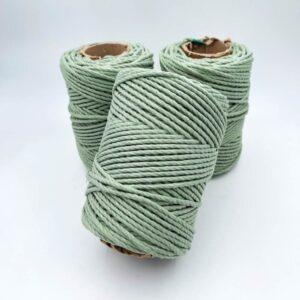 חוט מקרמה 3 ממ צבע ירוק מרווה